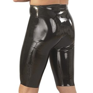lange latex shorts