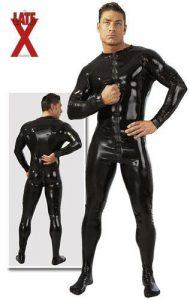 latex jumpsuit fullbody mandligt catsuit