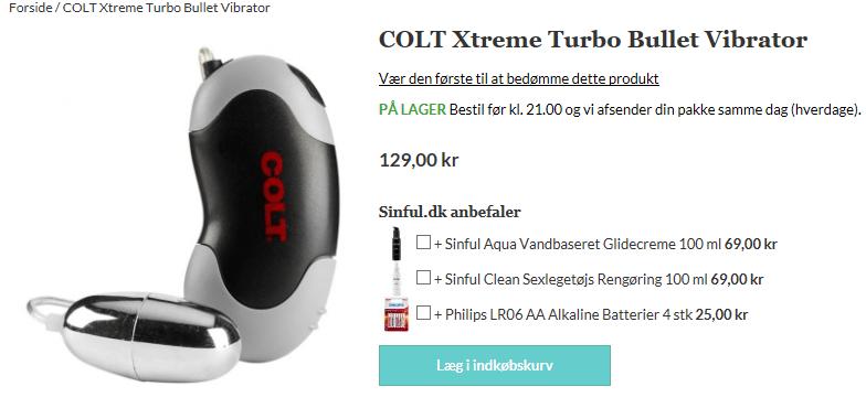 colt extreme kraftfuld vibrator