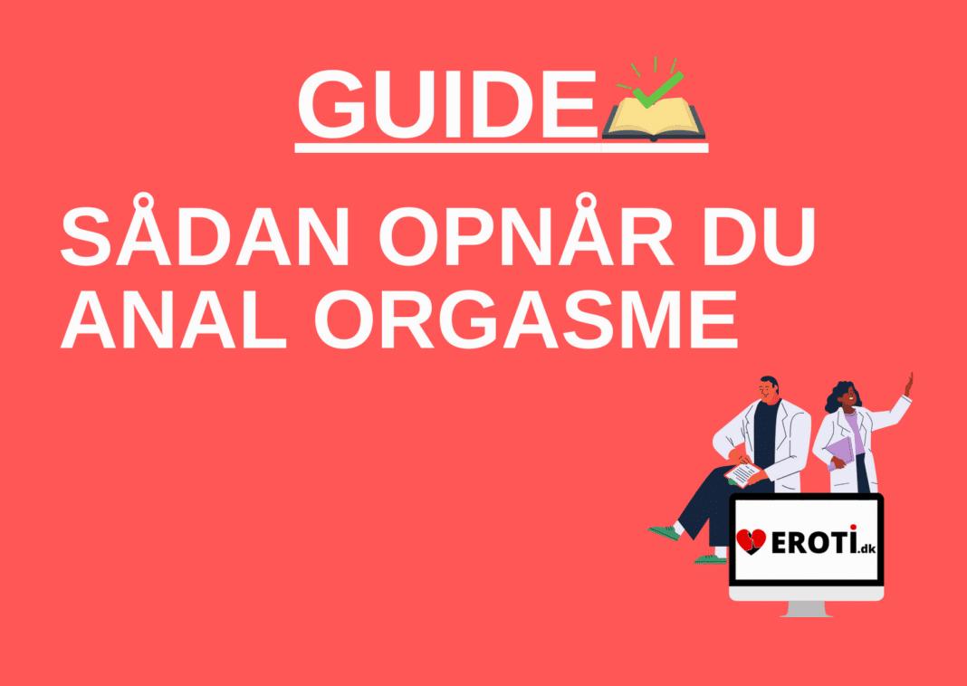 anal orgasme guide