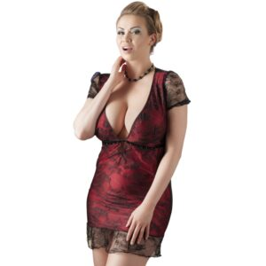 cottelli blonde chemise kjole plus size jule lingeri