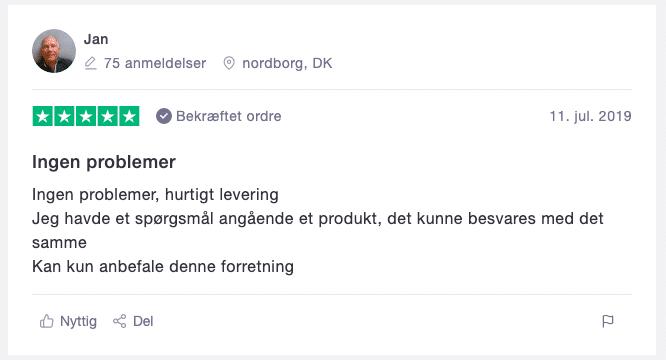 trustpilot Sexshop.dk