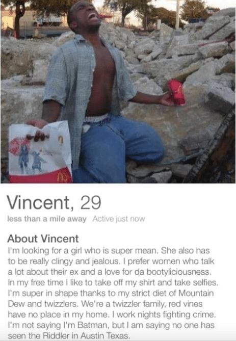 dating profiltekst