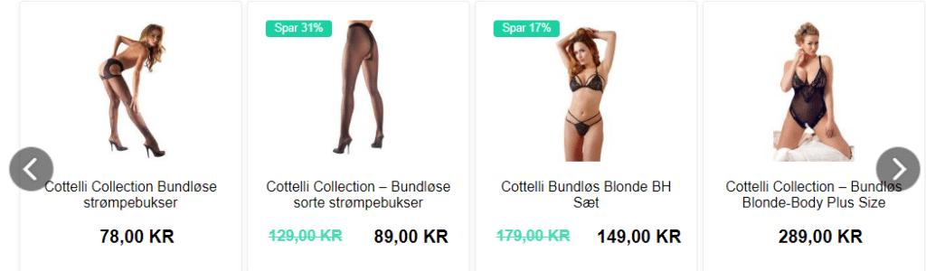 sexshops udvalg af frækt sex tøj