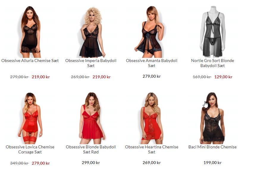 små kjoler til brug som sex tøj