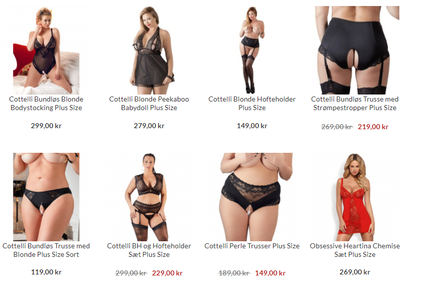 plus size sex tøj