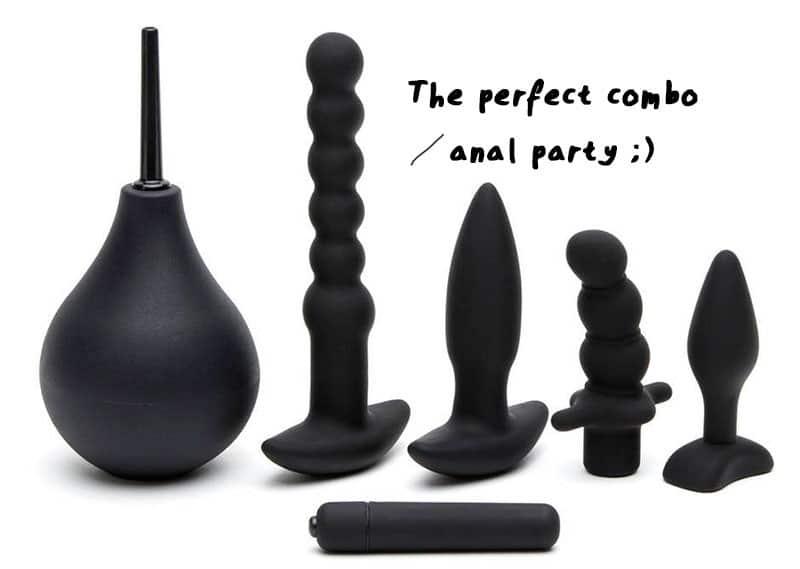 anal training butt plug kit