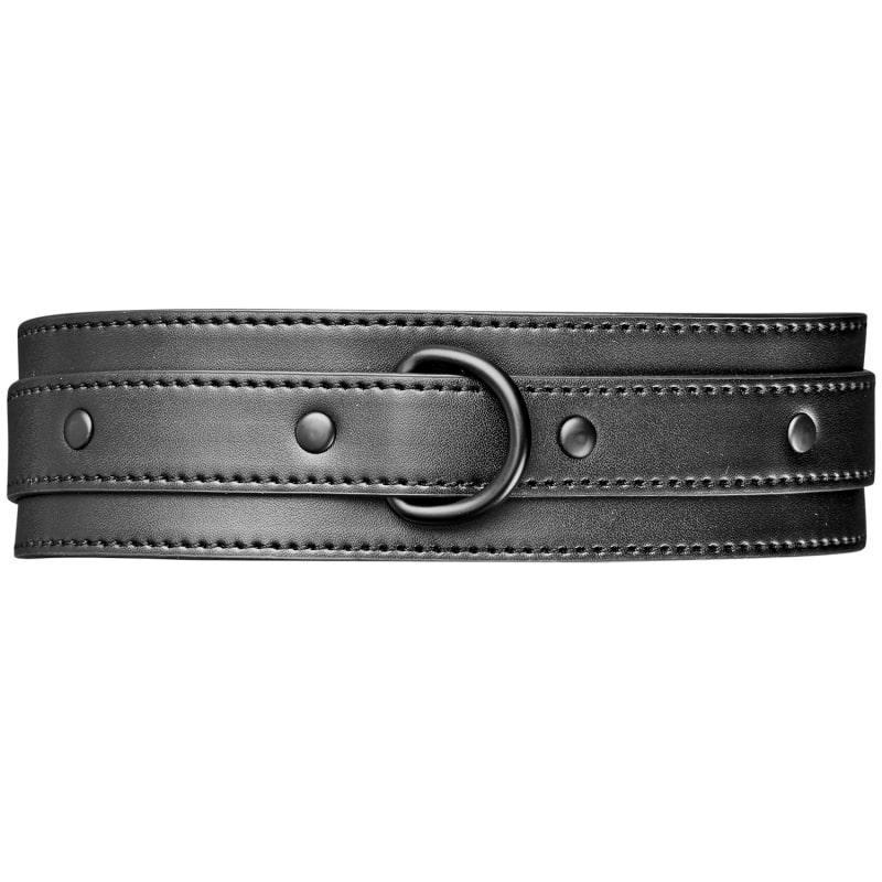 Obaie Imiteret Læder Halsbånd med D-Ring