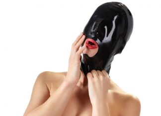Late X Black Out Latex Maske