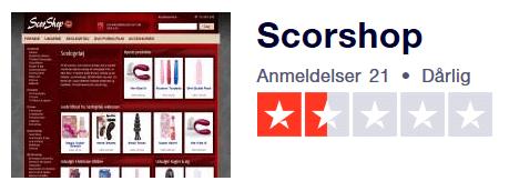SCORSHOP.DK TRUSTPILOT ANMELDELSER