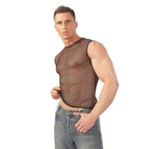 svenjoyment fræk sort net undertrøje