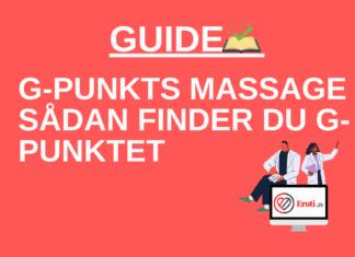 g-punkts massage sådan finder du g-punktet