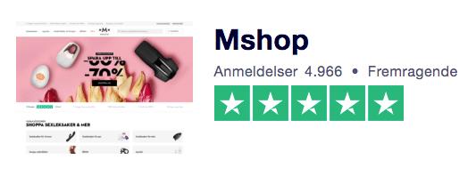 MShop trustpilot