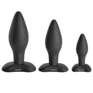 sinful bumbum silicone butt plug set
