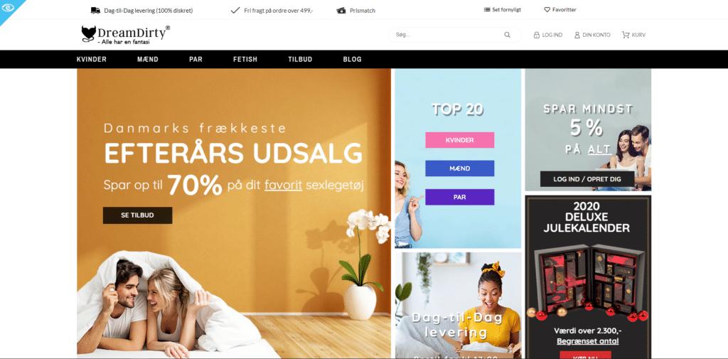Dreamdirty hjemmeside