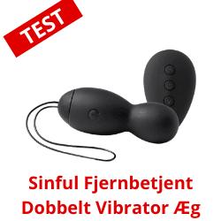 sinful dobbelt vibrator æg